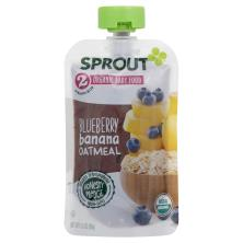 Sprout Baby Food, Organic, Blueberry Banana Oatmeal, 2 (6 Months & Up)