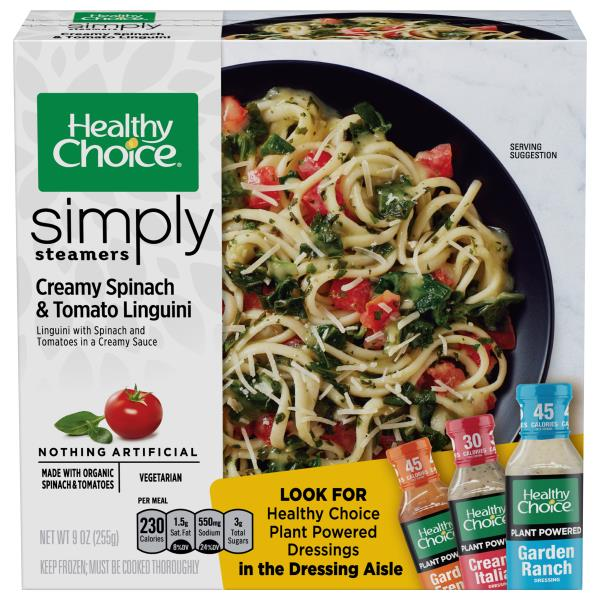 Healthy Choice Simply Steamers Creamy Spinach & Tomato Linguini