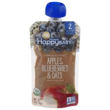 Happy Baby Organics Baby Food, Organic, Apples, Blueberries & Oats, 2 (6+ Months)