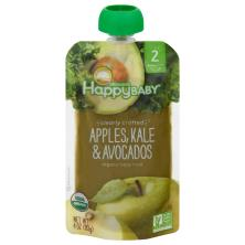 Happy Baby Organics Baby Food, Organic, Apples, Kale & Avocados, 2 (6+ Months)