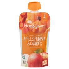 Happy Baby Organics Baby Food, Organic, Apples, Pumpkin & Carrots, 2 (6+ Months)