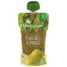 Happy Baby Organics Baby Food, Organic, Pears, Kale & Spinach, 2 (6+ Months)