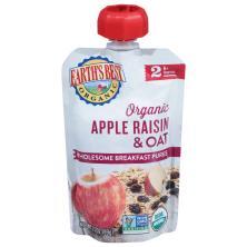 Earths Best Organic Wholesome Breakfast, Apple Raisin, 2 (6 Months & up)