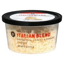 Publix Italian Blend Parmesan, Asiago, Romano, Shredded Cheese