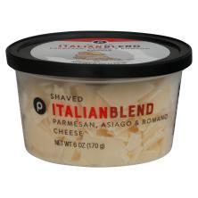 Publix Italian Blend Parmesan, Asiago, Romano, Shaved Cheese