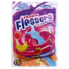 Plackers Kids' Dental Flossers, with Fluoride, Dual Gripz, Fruit Smoothie Swirl