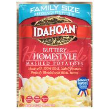 Idahoan Mashed Potatoes, Buttery Homestyle, Family Size