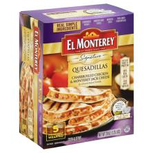 El Monterey Signature Quesadillas, Charbroiled Chicken & Monterey Jack Cheese