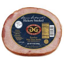 Double G Brands Ham, Boneless, Mini Steaks, Hickory Smoked