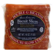 Double G Brands Ham, Hickory Smoked, Biscuit Slices
