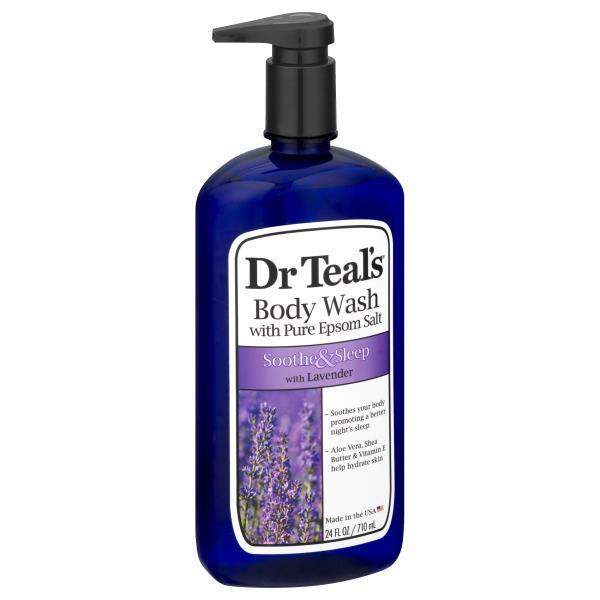 Dr Teals Body Wash, Pure Epsom Salt, Soothe & Moisturize