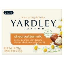 Yardley London Bath Bar, Sensitive Skin, Shea Buttermilk