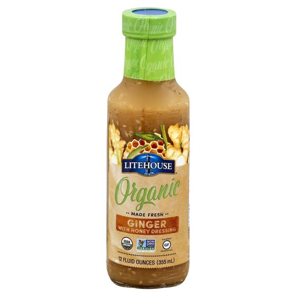 Litehouse Organic Dressing, Ginger, with Honey