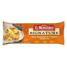 El Monterey Signature Burrito, Egg Sausage & Cheese