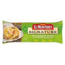 El Monterey Signature Burrito, Egg, Sausage, Cheese & Potato