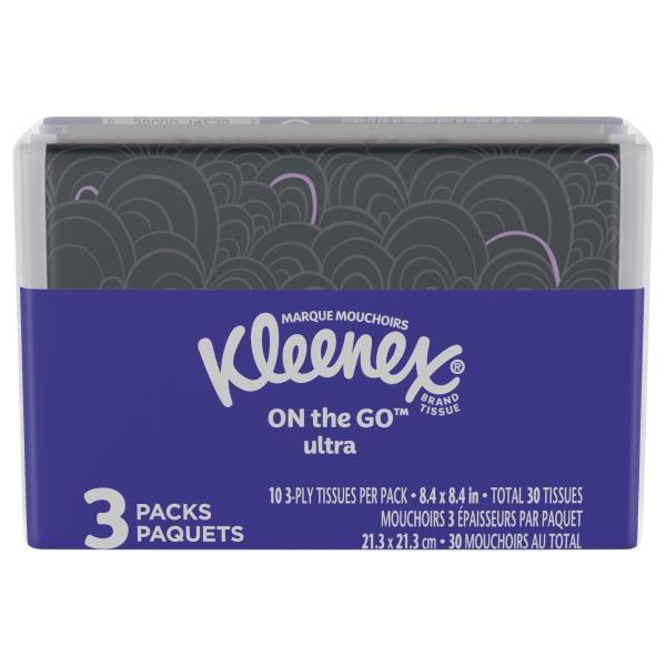 Kleenex Tissues, White, 3-Ply, Slim Pack