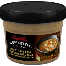 Campbells Slow Kettle Style Soup, Chicken & Wild Rice, Spicy Thai-Style