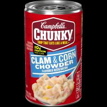 Campbells Chunky Soup, Clam & Corn Chowder with Bacon