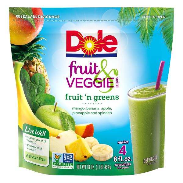 Dole Fruit & Veggie Blends, Fruit 'n Greens
