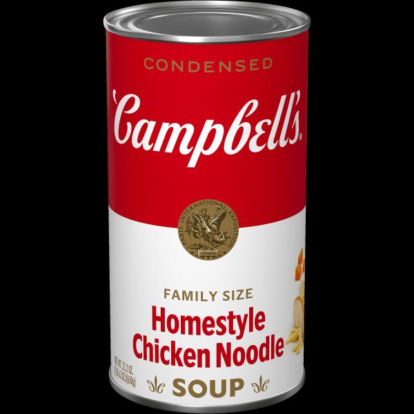 Campbells Condensed Soup, Condensed, Homestyle Chicken Noodle, Family Size