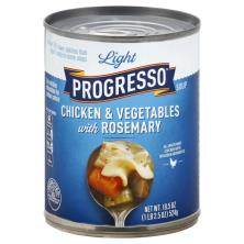 Progresso Light Soup, Chicken & Vegetables, with Rosemary