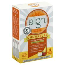 Align Chewables Probiotic Supplement, Chewable Tablets, Banana Strawberry Smoothie