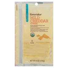 GreenWise Organic Cheddar, Sliced Cheese