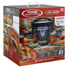 Power Pressure Cooker XL Pressure Cooker, Power, XL, 6 Quart