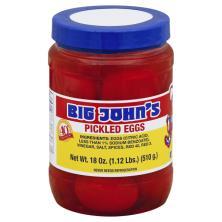 Big Johns Eggs, Pickled