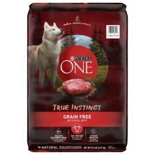Purina One True Instinct Adult Dog Food, Grain Free Beef