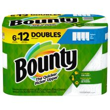 Bounty Paper Towels, Double Rolls, Select-A-Size, White, 2 Ply