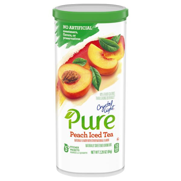 Crystal Light Pure Drink Mix Naturally Sweetened Peach