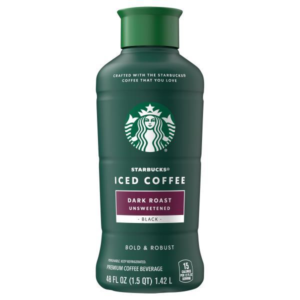 Starbucks Iced Coffee, Dark Roast, Unsweetened