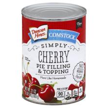 Duncan Hines Comstock Pie Filling & Topping, Simply Cherry