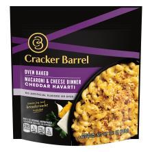 Cracker Barrel Macaroni & Cheese, Dinner, Oven Baked, Cheddar Havarti
