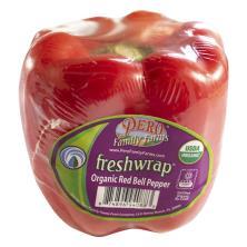 Pero Freshwrap Bell Pepper, Organic, Red