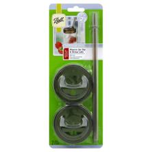 Ball Drinkware Series Sip & Straw Lids, Mason Jar, Regular Mouth