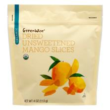 GreenWise Mango, Organic, Dried Unsweetened, Slices