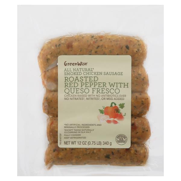 GreenWise Smoked Chicken Sausage, Mediterranean