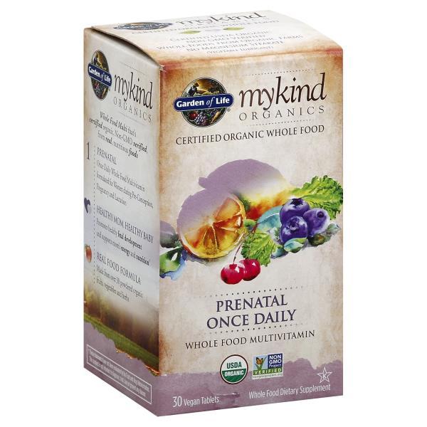 garden of life mykind organics multivitamin whole food prenatal once daily vegan tablets - Garden Of Life Prenatal
