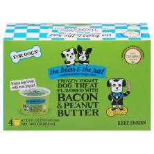 The Bear & the Rat Dog Treat, Frozen Yogurt, Bacon & Peanut Butter