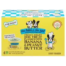 The Bear & the Rat Dog Treat, Frozen Yogurt, Banana & Peanut Butter