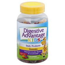 Digestive Advantage Kids Daily Probiotic, Gummies, Natural Fruit Flavors