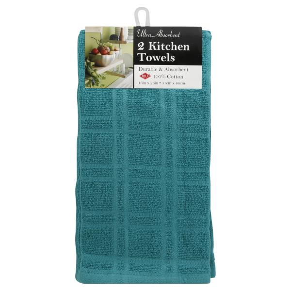 Ritz Kitchen Towels Solid Teal