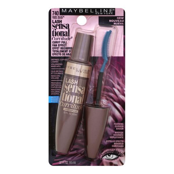 3217c57506d Maybelline Lash Sensational Curvitude Mascara, Volumizing, Very Black, 740