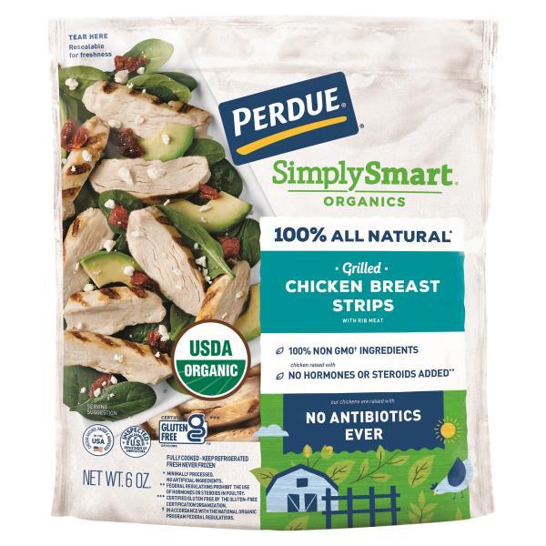 Perdue Harvestland Chicken Breast Strips, Organic, Grilled