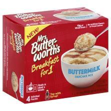 Mrs Butterworths Buttermilk Pancake Mix Breakfast For 1