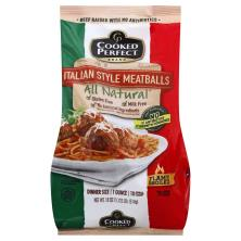 Cooked Perfect Meatballs, Italian Style, Flame Broiled, Dinner Size