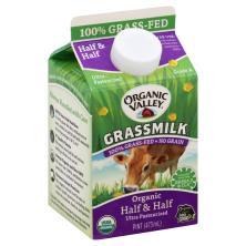 Organic Valley Grassmilk Half & Half, Organic