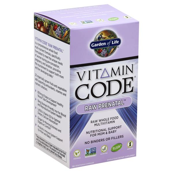 garden of life vitamin code multivitamin raw prenatal vegetarian capsules - Garden Of Life Multivitamin